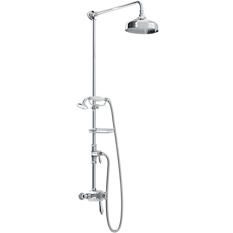 Bristan Trinity Triple Exposed Mixer Shower with Shower Kit + Fixed Head