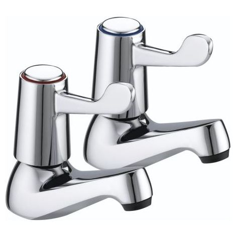 Bristan VAL 1/2 C CD Chrome Plated Lever Basin Taps with Ceramic Disc Valves