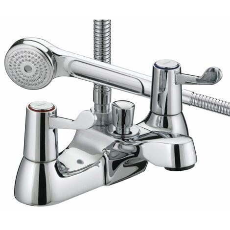 Bristan Value Lever Bath Shower Mixer Tap - Chrome Plated with Ceramic Disc Valves