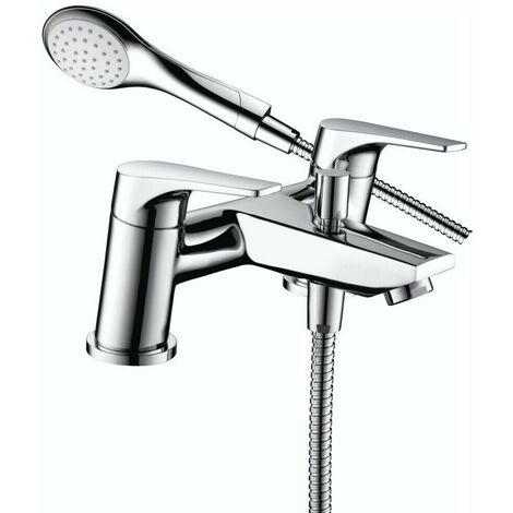 Bristan Vantage Bath Shower Modern Double Lever Mixer Tap & Chrome Shower Head