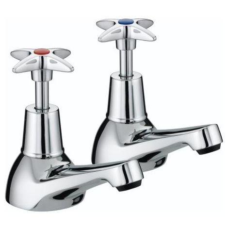 Bristan VAX 3/4 C Chrome Plated Cross Top Bath Taps