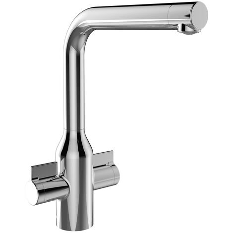 Bristan Wine EasyFit Mono Kitchen Sink Mixer Tap Dual Handle - Chrome