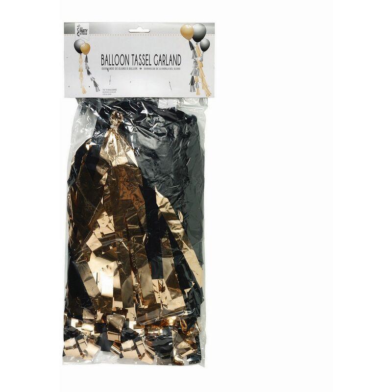 Image of Balloon Tassels (One Size) (Rose Gold/Metallic Black) - Bristol Novelty