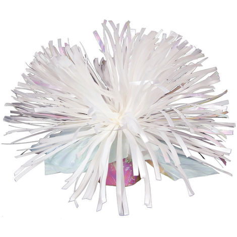 Bristol Novelty Balloon Weight Centrepiece (One Size) (White Iridescent)