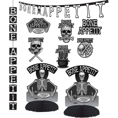 Bristol Novelty Bone Appetit Decorating Kit (One Size) (White/Black)