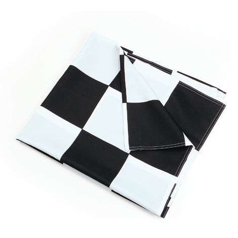 Bristol Novelty Chequered Flag (One Size) (White/Black)
