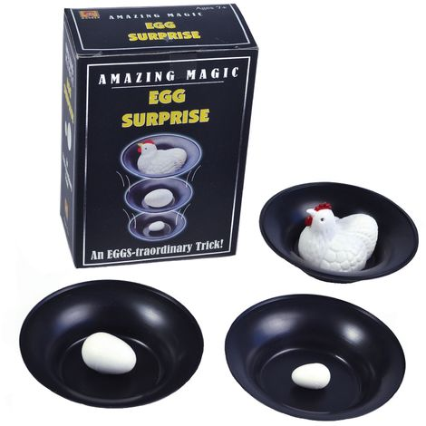 Bristol Novelty Egg Surprise Magic Trick (One Size) (Black/White)
