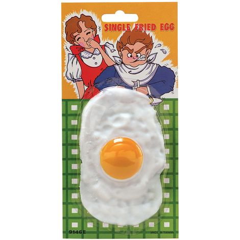 Bristol Novelty Fried Egg Joke (One Size) (White/Yellow)
