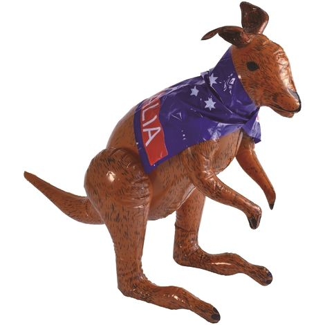 Bristol Novelty Inflatable Kangaroo (70cm) (Brown/Blue/Red/White)
