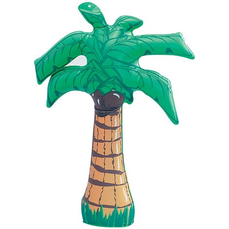 Bristol Novelty Inflatable Palm Tree (45cm) (Green/Brown)