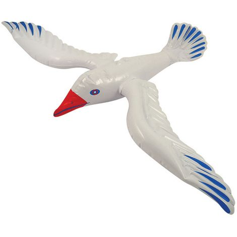 Bristol Novelty Inflatable Seagull (76cm) (White/Blue/Red)