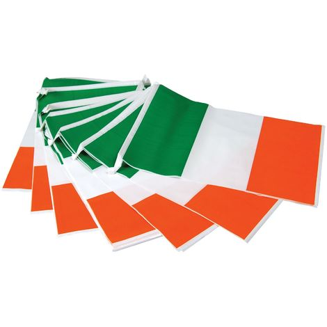 Bristol Novelty Ireland Flag Bunting (One Size) (White/Green/Orange)