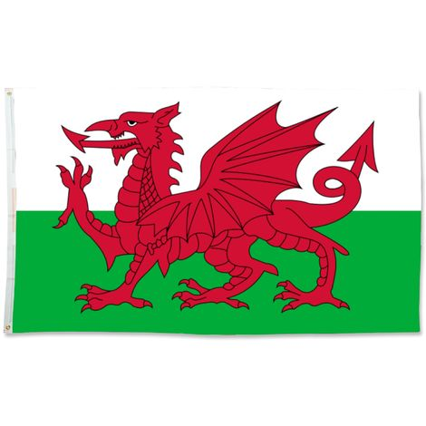 Bristol Novelty Miniature Welsh Flag (One Size) (White/Green/Red)
