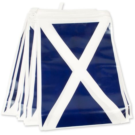 Bristol Novelty Scotland Flag Bunting (One Size) (Blue/White)