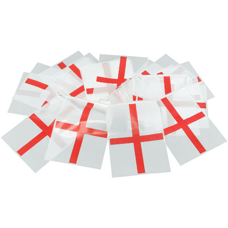 Bristol Novelty St. George Bunting (One Size) (Red/White)