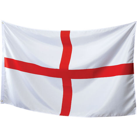Bristol Novelty St George`s Flag (One Size) (White/Red)