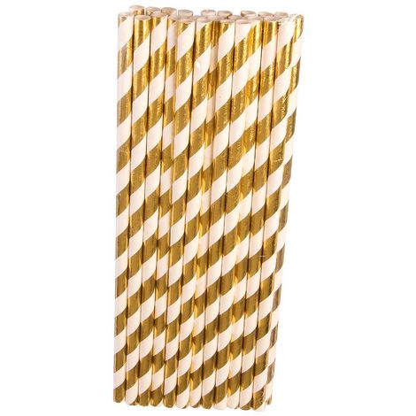 Bristol Novelty Striped Paper Straws (Pack of 24)