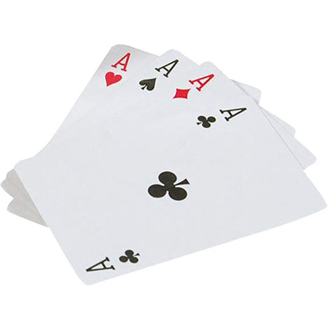 Bristol Novelty Trick Playing Cards (One Size) (White/Black/Red)