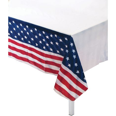Bristol Novelty USA Table Cover (One Size) (Red/White/Blue)