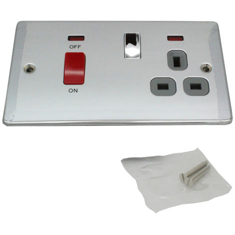 British General Polished Chrome Home House Light Switches / Electrical Sockets