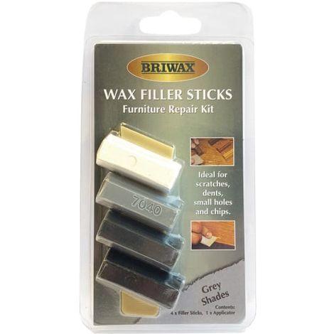 Briwax Wax Filler Sticks Grey Shades (Pack 4)