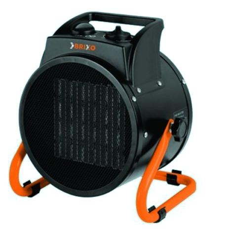 Brixo Générateur d'air chaud électrique 3000 W 60 m³ avec ventilateur PTC