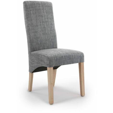 Brixton Wave Tweed Grey Chair
