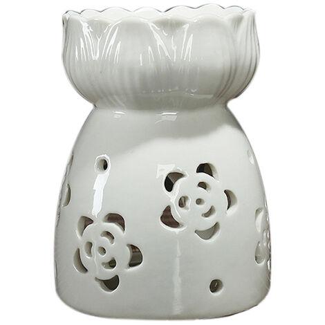 Br?leur à huile Lotus en céramique Bougeoir à bougie chauffe-plat à la cire Aromathérapie (Style 5)