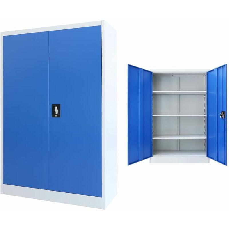 Image of Broadview 2 Door Storage Cabinet by Blue - Ebern Designs