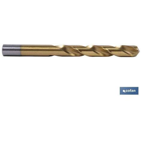 Broca de titanio HSS TIN-DIN 338