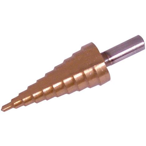 Broca escalonada HSS con revestimiento de titanio 4 - 22 mm - NEOFERR