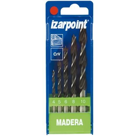 Broca Madera 3 Puntas Juego 5 Piezas - Izar - 1435-30223 - 4-10 Mm