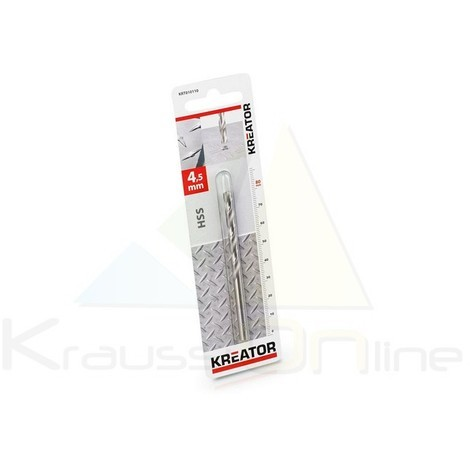 Broca/metal, hss 4,5x80 mm (KRT010110)