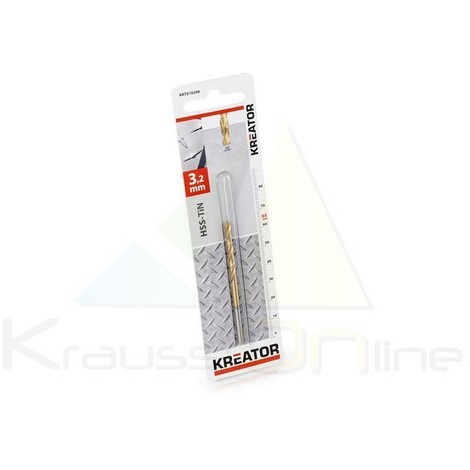 Broca/metal, hss-tin 3,2x65 (KRT010206)
