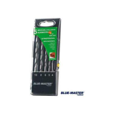 Broca Pared Profesional Cilindrica Md Juego Blue-Master 4-5-6-8-10 Mm