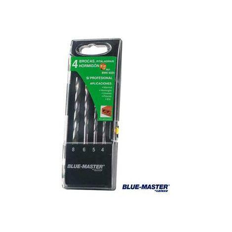 Broca Pared Profesional Cilindrica Md Juego Blue-Master 4-5-6-8 Mm