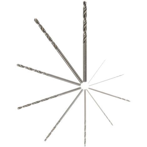 Brocas de acero blanco de 10 piezas, herramienta de perforacion helicoidal HSS