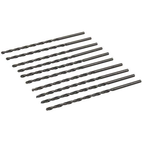 Brocas métricas largas HSS-R, 10 pzas 3 x 100 mm - NEOFERR