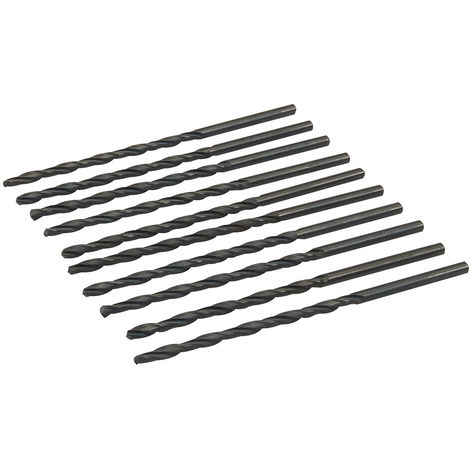 Brocas métricas largas HSS-R, 10 pzas 4,5 x 126 mm - NEOFERR