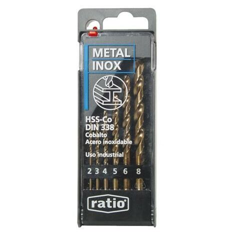 BROCAS PARA METAL HSS-CO JUEGO 6 RATIO