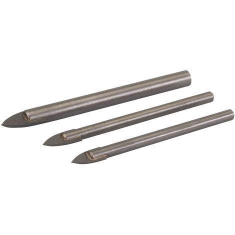 Brocas para vidrio y azulejos, 3 pzas 5, 6 y 8 mm - NEOFERR