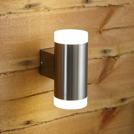 Brocco Aplique LED Doble Biard Acero Inoxidable Exterior Moderno Impermeable