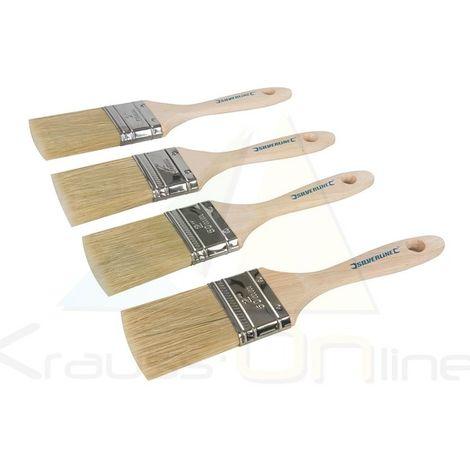 Brochas con cerdas mixtas, uso profesional, 4 pzas (Silverline-371562)
