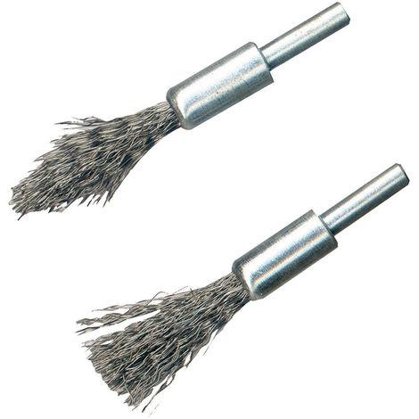 Brochas de alambre de acero, 2 pzas Vástago de 6 mm - NEOFERR