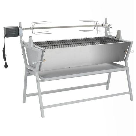 Broche à rôtir de barbecue Fer et acier inoxydable8452-A