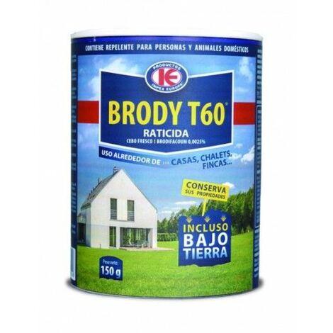 Brody T60 - Cebo Fresco para Control de Roedores en Exteriores de Casas y Chalets para Eliminar Ratones, Ratas y más - Uso Doméstico - Bote 150 gr