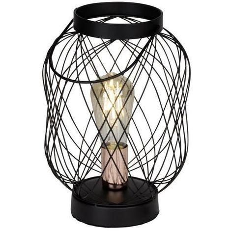 BROGAN LAMPE A POSER MÉTAL - 30,5X20,5CM - NOIR CUIVRE BRILLIANT 98948/76