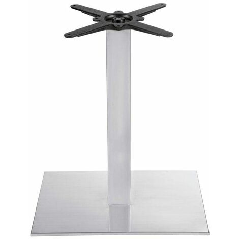 Bromley - Brushed Steel Extra Large Square Dining Table Base