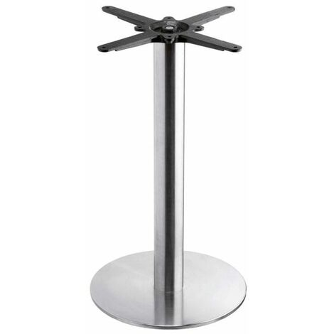 Bromley - Brushed Steel Small Round Dining Table Base
