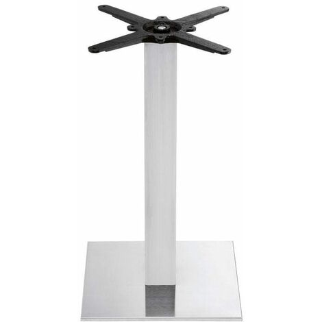 Bromley - Brushed Steel Small Square Dining Table Base